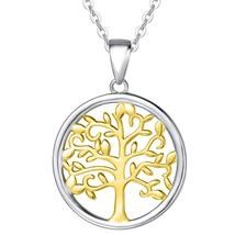 Swarovski Crystals Two Tone Color- Tree of Life Drop  Necklace - $16.00