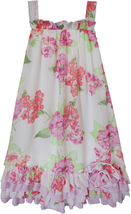 Isobella & Chloe Big Girls Tween 7-16 Peony Floral Print A-Line Trapeze Dress