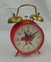 Unique Vintage Kool Aid Red Wind Up Alarm Clock... - $15.83
