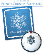 French Country Snowflake cross stitch chart JBW Designs - $5.40