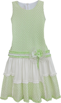 Isobella & Chloe Big Girls Tween 7-16 Mint-Green Colorblock Drop Waist Dress