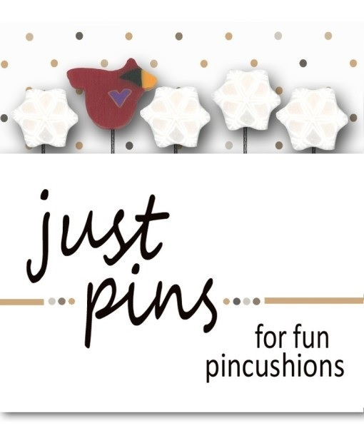 Snowbird Just Pins JP123 set 5 for pincushions JABC Just Another Button Co