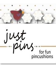 Snowbird Just Pins JP123 set 5 for pincushions JABC Just Another Button Co - $13.95