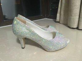 Sparkle Wedding Shoes rhinestone kitten heels bride bridesmaid shoes prom shoes image 2