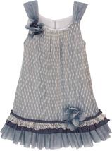 Isobella & Chloe Little Girls 2T-6X Textured Dot A-Line Trapeze Dress