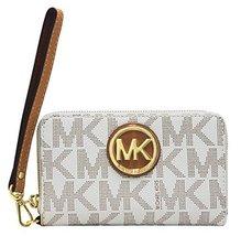 Michael Kors Fulton Vanilla Gold Large Flat MF Phone Case PVC 32H5GFTE4B... - $152.46