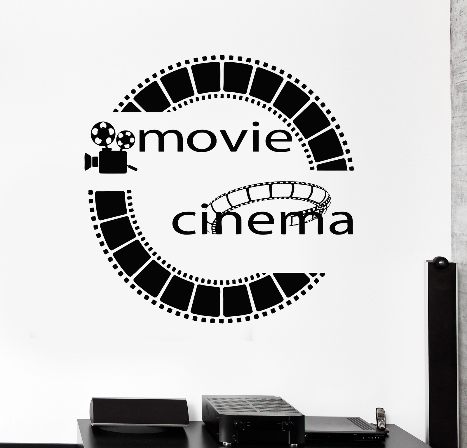 Vinyl decal film cinema movie cinemaddict wall stickers - Stickers cinema mural ...