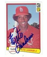 Tito Landrum autographed Baseball Card (St. Louis Cardinals) 1982 Donrus... - $14.00