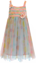 Isobella & Chloe Big Girls Tween 7-16 Watercolor Dot Print Empire Waist Dress