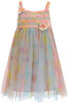 Isobella & Chloe Little Girls 2T-6X Watercolor Dot Print Empire Waist Dress