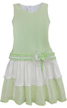 Isobella & Chloe Little Girls 2T-6X Mint-Green Colorblock Drop Waist Dress