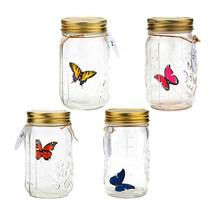 LED Flying Butterfly Bottle Glass Jar Night Light Romantic Home Decor Gi... - $17.27+