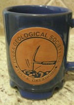 FRANKOMA Pottery Oklahoma- Tulsa Geological  Society #C1 - Blue Glaze Co... - $29.00