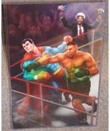 Mike Tyson vs Superman Glossy Print 11 x 17 In Hard Plastic Sleeve - $24.99