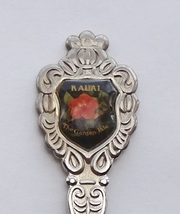 Collector Souvenir Spoon USA Hawaii Kauai The Garden Isle Hibiscus Emblem - $3.99