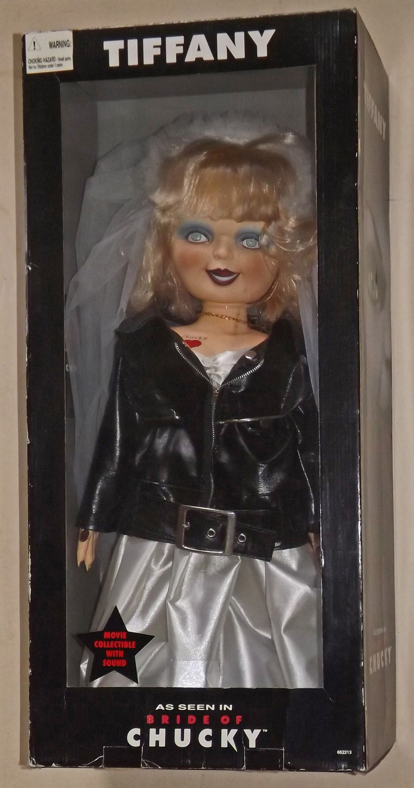 2006 First Edition, Life Size Tiffany Doll, as Seen in Bride of Chucky (with tal