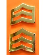 """SRGT Police Chevron Gold Plated 1"""" Military Rank Insignia Pin Set 764 New - $15.81"""