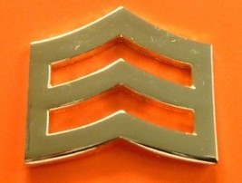 """SRGT Police Chevron Gold Plated 1"""" Military Rank Insignia Pin Set 764 New image 4"""