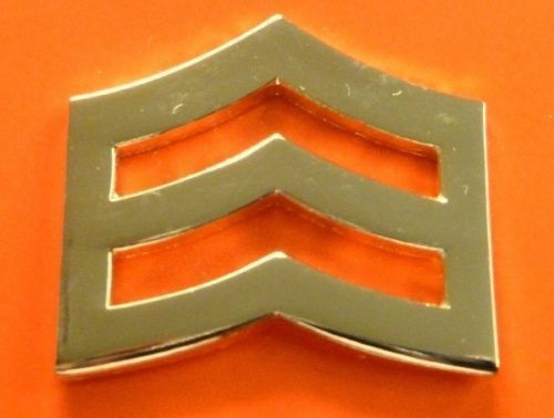 """SRGT Police Chevron Gold Plated 1"""" Military Rank Insignia Pin Set 764 New image 2"""