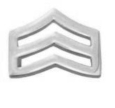 "SRGT Police Chevron Silver Plated 3/4"" Military Rank Insignia Pin Set 305 New image 5"