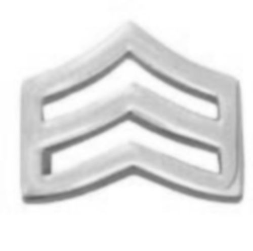 "SRGT Police Chevron Silver Plated 3/4"" Military Rank Insignia Pin Set 305 New image 2"