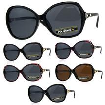 Polarized Womens Rhinestone Diva Bling Plastic Oversize Sunglasses - £9.29 GBP