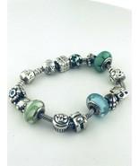 """Pandora Argent Sterling 14 Charms Bracelet 7.5 """" Pouce Longue - $253.49"""