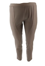 George Kotsiopoulos Petite Ponte Knit Mixed Media Leggings Taupe PXL NEW... - $45.52