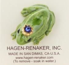 Hagen-Renaker Miniature Ceramic Frog Figurine Birthstone Prince 09 September image 3