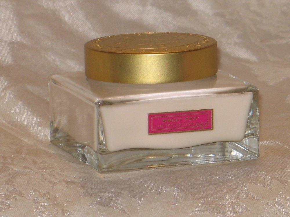 Bath & Body Works Sweet Pea Luxe Body Cream in Beautiful Glass Jar..7 oz / 200 g