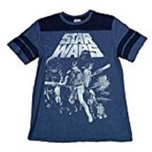 Star Wars Retro 1977 Movie Cast Princess Leia Men's SM Navy Graphic T-Sh... - $14.97