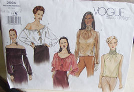 Vogue Pattern 2594 (Used) size 6,8 Loose Fittin... - $6.99
