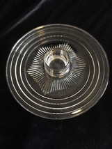 (5068) SAFE SERV GLASS LUNCHEON PLATE Platter Base 1937 - $5.90