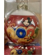 WALT DISNEY WORLD 2005 GLASS BALL CHRISTMAS ORNAMENT SOUVENIR - New - Mi... - $23.36