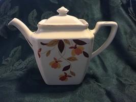 (4877) Hall's Tea Autumn Leaf Newport First Edition Teapot & Lid - $58.89