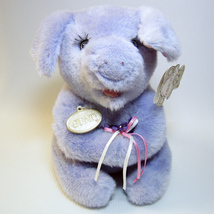Gund KISSKISS Plush Purple Pig with Eyelashes Vintage Excellent wTags! - $14.00