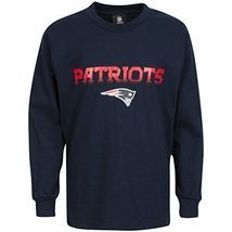 NFL Team Apparel New England Patriots Blue Long Sleeved Youth T-shirt Si... - $25.23