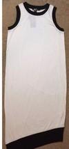 DKNY Women White Asymmetric Cotton Pull Over Casual Dress Sz M $160 NWT - $34.65