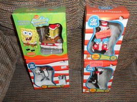 Kurt S Adler Ornaments Spongebob and Cat in the Hat - $20.00