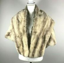 Vintage Wrubel & Kozin Detroit Pellicce Visone Capo Argento Fodera Made ... - $186.64