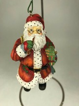 Vtg 1998 Santa w/ Pipe Resin Figural Christmas Ornament 1st Edition SW - $9.89