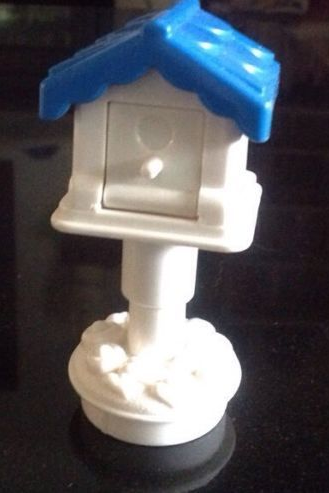 Fisher Price Little People Mail box mailbox post blue bird house birdhouse home