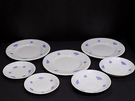 Great 7 Pc Mixed Lot Royal Adderley Blue Chelsea Fine Bone China Plates ... - $18.32