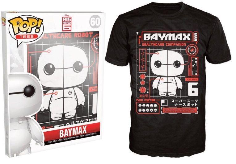 Funko POP Tees Disney Big Hero 6 Baymax T-shirt 60 Limited Edition New for sale  USA