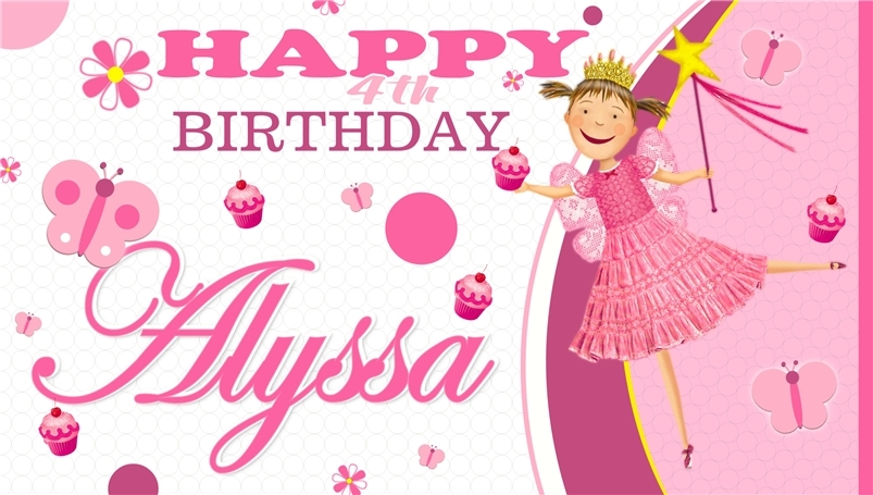 Pinkalicious Custom -Personalized- Vinyl Birthday Banner Party Decoration