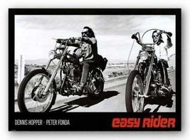 Easy Rider Movie Poster 24x36 Classic Black and White  - $18.00