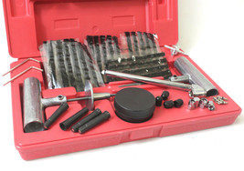 50Pc Road Side Punctured Auto Tire Patch  Repair Tool Kit W/ Case Plug P... - $24.74