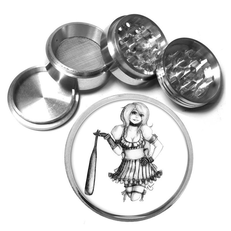 "Primary image for Bad Girl Pin Up D7 Aluminum Herb Grinder 2.5"" 63mm 4 Piece Sexy"