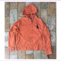 POLO RALPH LAUREN RUGBY WAIMEA HOODED JACKET, DARK ORANGE, Size XL - $155.10