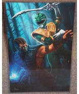 Green Power Ranger vs Sub Zero Glossy Print 11 x 17 In Hard Plastic Sleeve - $24.99